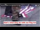 Muslims in New York Desecrate U.S. Flag
