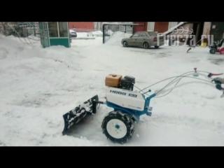 Мотоблок НЕВА с снеговой лопатой (fuerza)