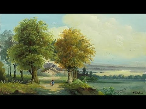 Poster Color Landscape Painting With Yasser Fayad