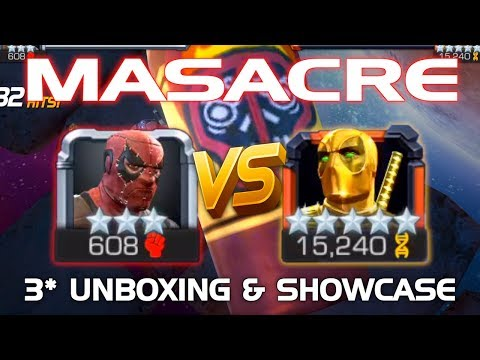 Masacre Unboxing Duel vs Goldpool 5* R5 w Tips Marvel Contest of Champions