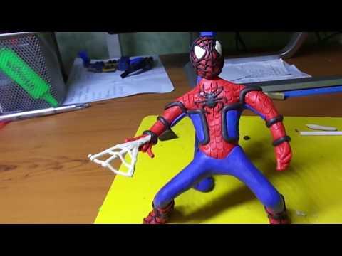 Лепим Спайдермена из пластилина! (Spider-Man from plasticine)