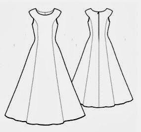 Выкройка платья принцессы