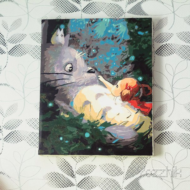 КАРТИНА ДЛЯ РОСПИСИ ПО НОМЕРАМ ТОТОРО 40х50 см за 9,75$
