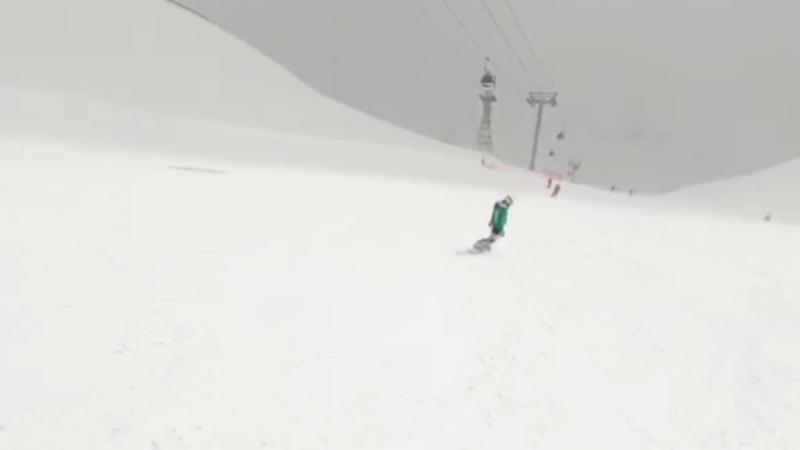 Snowboarding by Razya Night