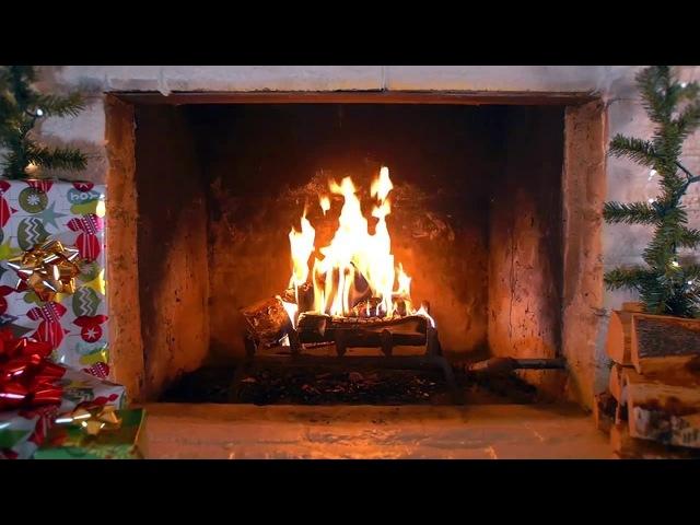Christmas fireplace (Brenda Lee - Rocking Around The Christmas Tree)