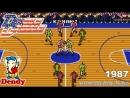 Баскетбол Dendy Double Dribble Денди игра Двойной дриблинг Double Dribble NES Walkthrough Игра 1990
