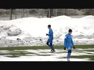 - Ого! Паша Баранов не поверил, что забил такой гол!