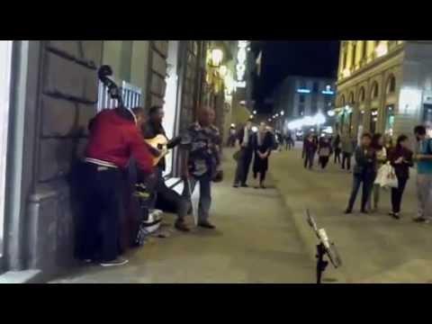 Street musicians - Tom Jobim in Firenze Italy - Rom Draculas - 2012