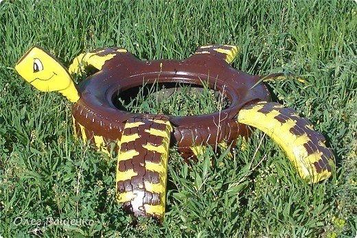 Черепашка из шины