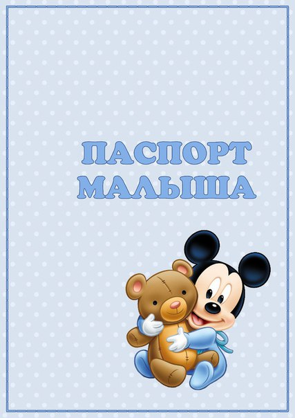 Паспорт малыша МИККИ МАУС