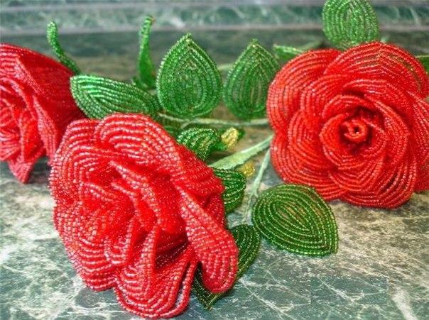 Плетение из бисера цветочные