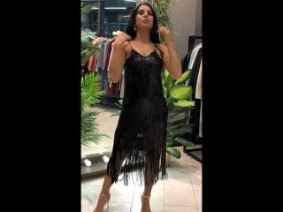 Роскошное мерцающее платье с бахромой