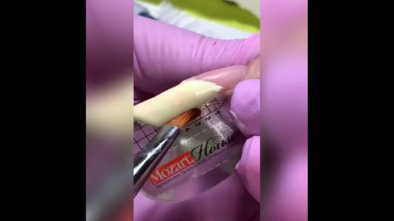 Наращивание Арочных ногтей.Обучение.