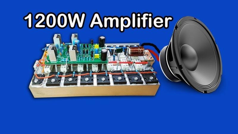 Rebuild new PCB board audio Yiroshi 1200W amplifier circuit