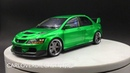 AGU 1:18 Mitsubishi Lancer EVO IX CLINCHED Wide body Resin model (flash green)