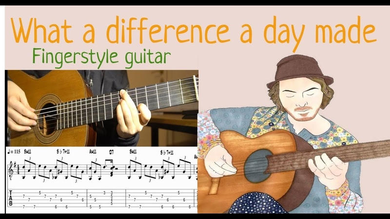 What a Difference a Day Made - Fingerstyle Guitar comping (with tab)