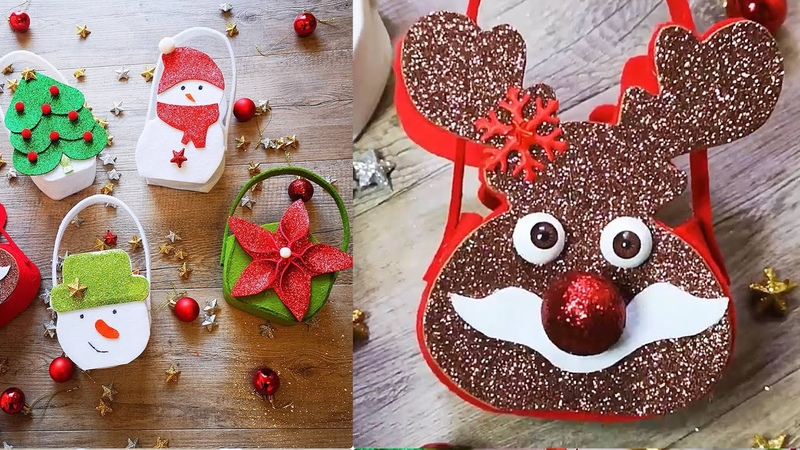 Tutorial super facile easy diy how to make no sewing bags for Christmas gifts