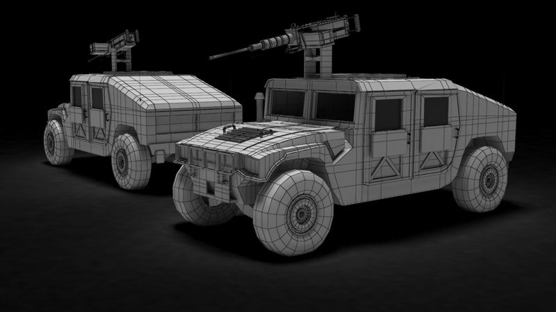 Modeling Humvee 3ds max tutorial part - 4