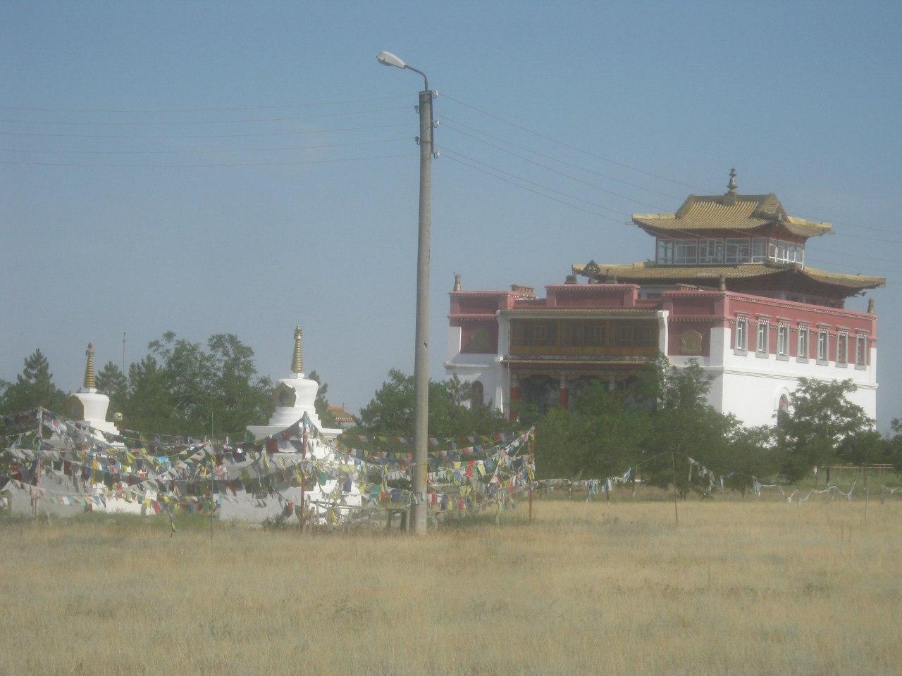 Бывший главный хурул (храм) в Элисте