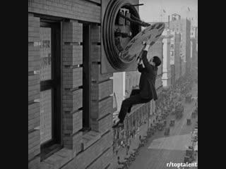 Как снимали сцены с гарольдом ллойдом и чарли чаплином| history porn