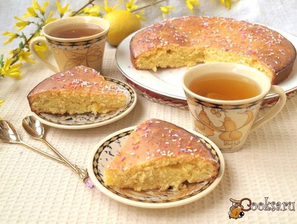 Лимонный пирог Очень вкусный и ароматный лимонный пирог из простых и доступных продуктов.