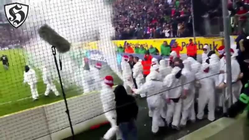 FC Köln Hooligans in Gladbach _ Borussia Mönchengladbach - FC Köln 14.02.2015