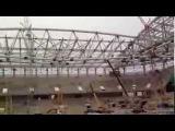 На строительстве стадиона «Открытие Арена» . 22.11.2013