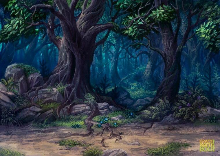 Лес. 2ед. энергии. Оборотни и Разбойники.
