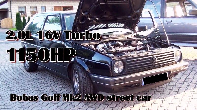 Brutal Golf Mk2 1150HP 16V Turbo Acceleration from Boba-Motoring Full Video