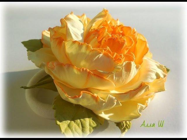 DIY Квітка з фоамірану для початківців Украшение из фоамирана для начинающих