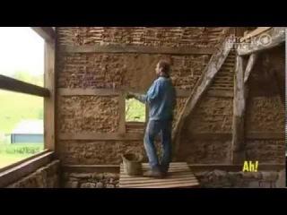 Дом из глины и соломы или как строят мазанку в Германии