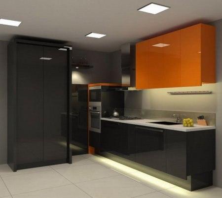 Оранжевый и черный цвет