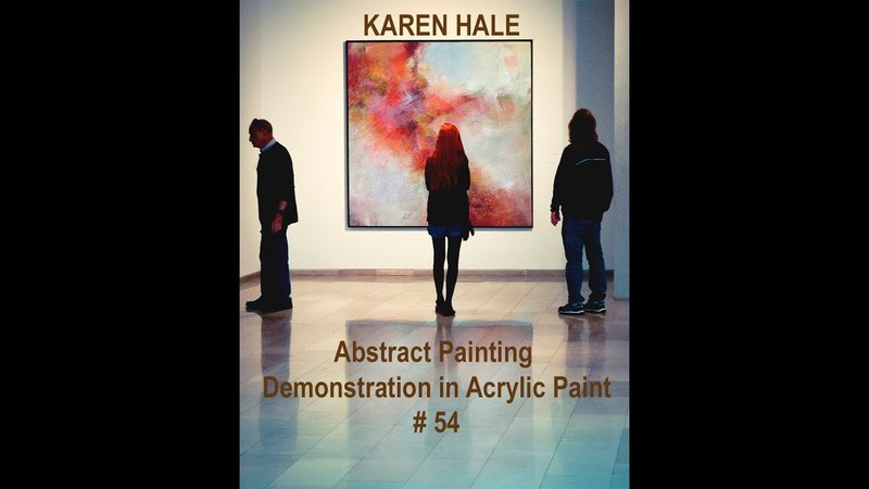 An Amazing Abstract Painting/ Layers of Colorful Acrylic Paint