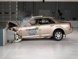 2005 Cadillac STS moderate overlap IIHS crash test