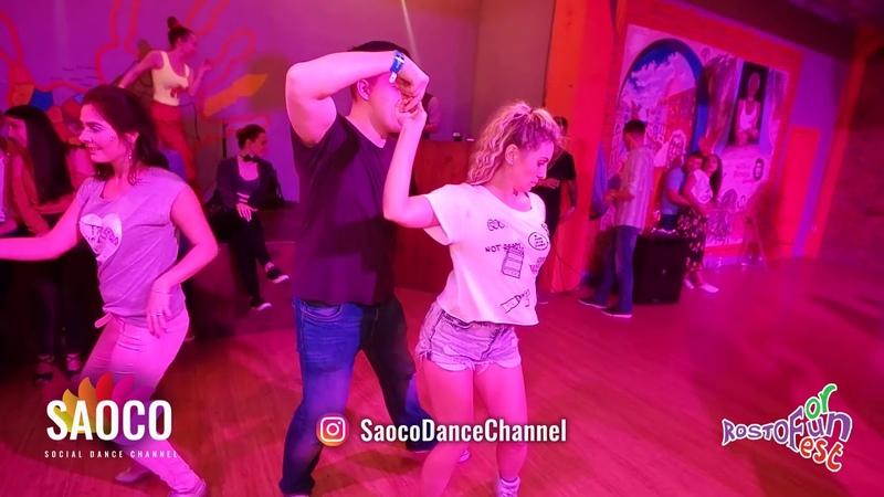 Ilya Kronberg and Tatyana Rakhmetulova Salsa Dancing at Rostov For Fun Fest 2018, Friday 02.11.2018
