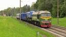 Тепловоз М62 1528 с краном близ о п Роща M62 1528 with railway crane neat Roshcha stop