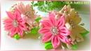 Цветы из репсовой ленты/ Канзаши/ Grosgrain Ribbon Flowers/ Kanzashi/ Flores de fitas/ Ola ameS DIY