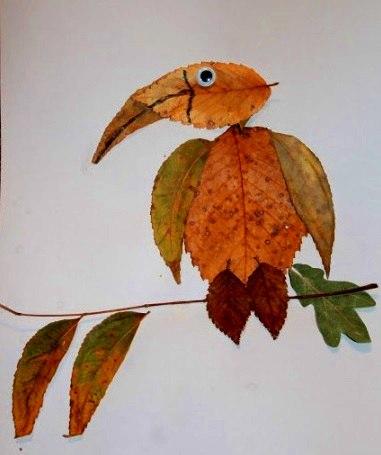 Творчество с детьми. Поделки из листьев…. (6 фото) - картинка