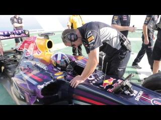 Red Bull celebrate F1 title on Burj Al Arab helipad