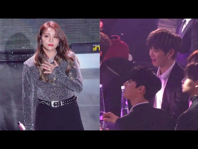 Wanna One Kang Daniel Reaction to Ailee's 첫눈처럼 너에게 가겠다 (Asia Artist Awards)
