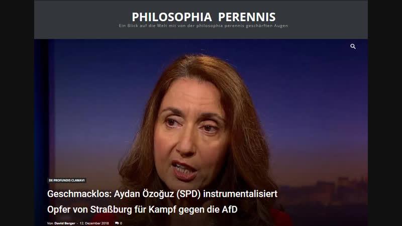 Geschmacklos...Aydan Özoğuz (SPD) instrumentalisiert Opfer von Straßburg für Kampf gegen die AfD