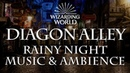 Harry Potter Music Ambience Diagon Alley Rainy Nighttime Sounds for Sleep Study Relaxing