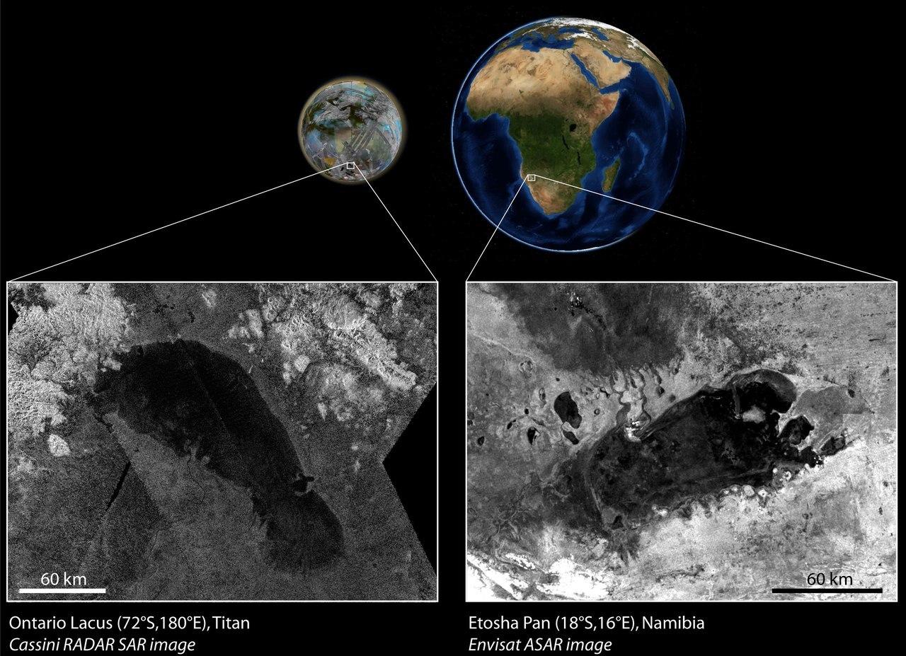Титановское и земное озеро