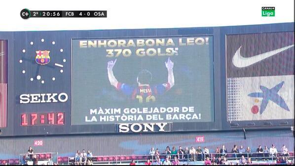 Месси забил свой 369-й гол за Барсу - изображение 1