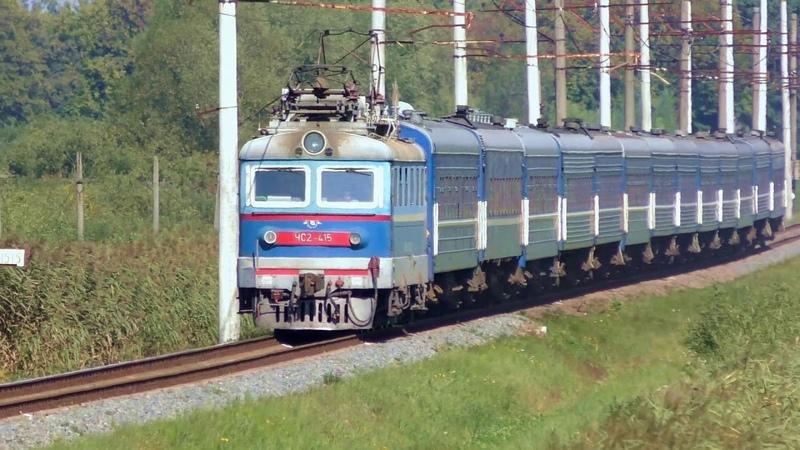ЧС2-415 з поїздом №371 Могилів — Трускавець