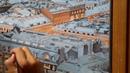 Вид на Казанский собор Холст масло 55х100 2018 год