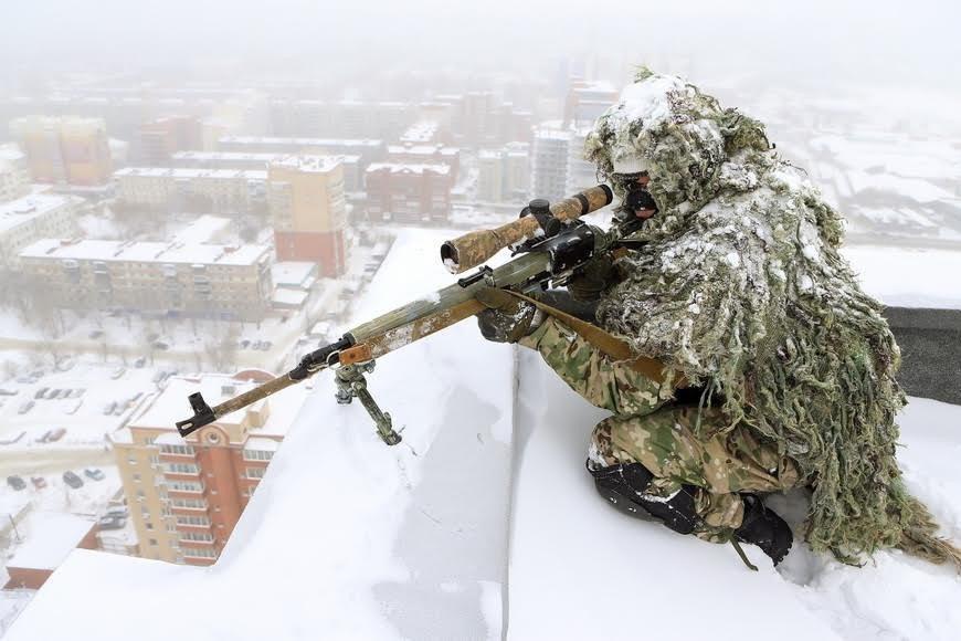 Тренировка снайперов СОБРа Управления Росгвардии по Челябинской области