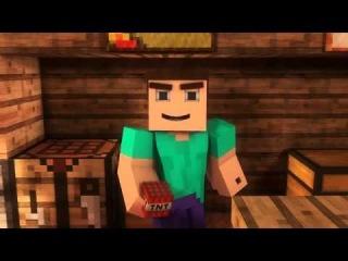 Мультфильм про майнкрафт [Minecraft] Охрана дома|Кража алмазов