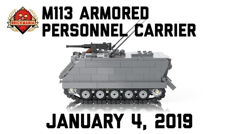 M113 Armored Personnel Carrier Custom Military Lego