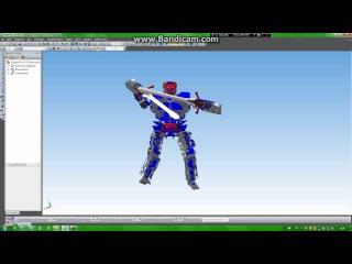 Робот в компас 3д. от RPA. (HD)